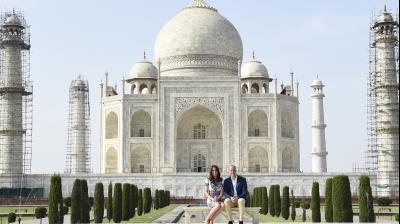 Prince William and Kate arrived at the Taj Mahal on Saturday, April 16, wrapping up their week-long trip to India and Bhutan with a visit that carries poignant echoes for Britain's royal family.