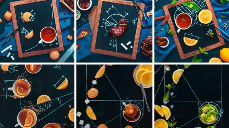 Still life photographer Dina Belenko did not mind doing her geometry homework unlike most students. So, she decided to do a special photo series that would make geometry seem fun even for a typical foodie. (Photo: Instagram/dinabelenko)