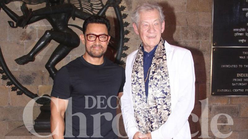 Hollywood star Sir Ian McKellen, best known for his role as Gandalf in the 'Lord of the Rings' series, sat down for a conversation with Aamir Khan to mark the 400th anniversary of Shakespeare, by talking about his legacy and world cinema at large. Photo: Viral Bhayani