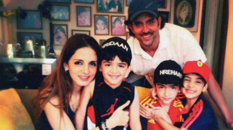 Hrithik Roshan and Sussanne Khan holiday together in London with kids ...
