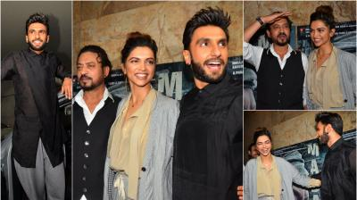Since Ranveer Singh and Deepika Padukone both are in town after wrapping up their films, how can the rumoured couple not turn up at events together? (Photo: Viral Bhayani)