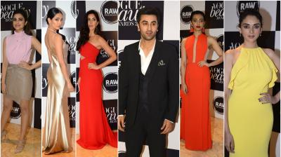 On Wednesday, Vogue India held its annual beauty awards in Mumbai where many biggies from Bollywood showed up in their elegant ensembles, looking breathtakingly gorgeous. (Photo: Viral Bhayani)