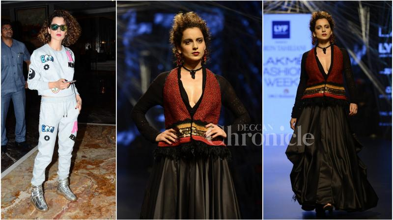 On Tuesday, Kangana Ranaut walked the ramp at Lakme Fashion Week 2016 and stole all the thunder looking breathtaking as ever. (Photo: Viral Bhayani)