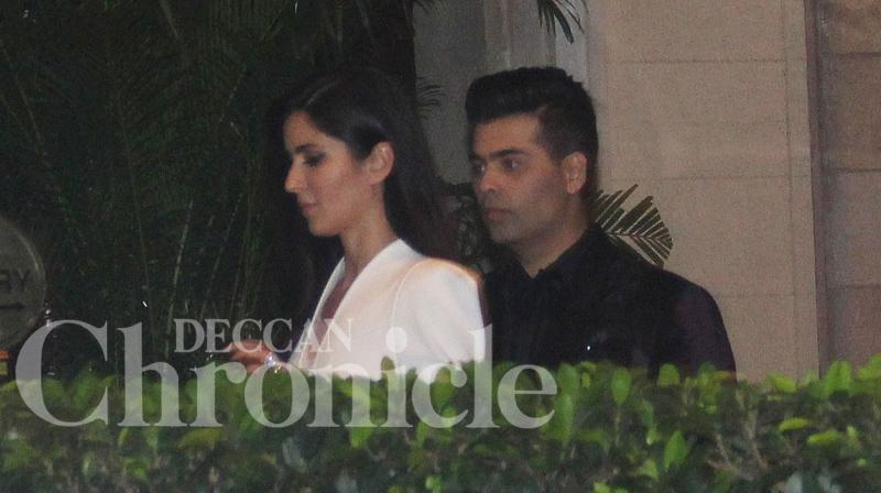 Katrina Kaif and her director friend Karan Johar partied together on Wednesday night at the Taj hotel in Mumbai. Photo: Viral Bhayani