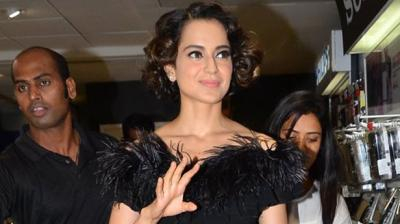 Bollywood star Kangana Ranaut put her fashion foot forward as she attended the launch of the 100th issue of a popular magazine in Mumbai. Photo: Viral Bhayani