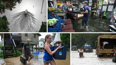 Torrential rains have caused record flooding in parts of the southern United States. Flooding in southeast Louisiana and southern Mississippi shut down roads, cutting off at least one town as an area of low pressure slowly moved west along the Gulf Coast. (Photos: AP)