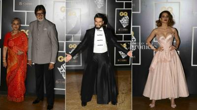 Bollywood stars stepped out in their stylish best for an awards event held late Tuesday. (Photo: Viral Bhayani)