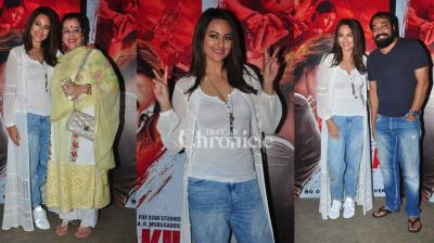 The screening of Sonakshi Sinha's film 'Akira' saw several Bollywood stars making an appearance.