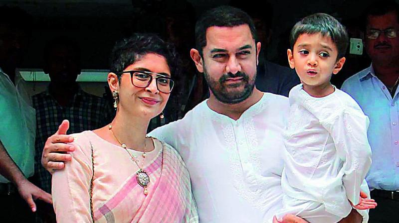 On December 1, 2011, Aamir Khan and Kiran Rao became proud parents of Azad Rao Khan. The baby was born through IVF to a surrogate mother.
