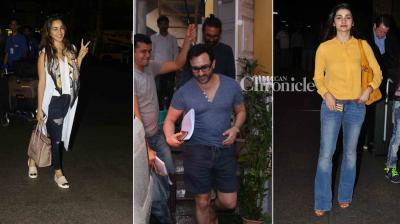 Kiara Advani, Prachi Desai, Tamannaah Bhatia, Elli Avram were snapped at the airport and Saif Ali Khan was spotted in Bandra. (Photo: Viral Bhayani)