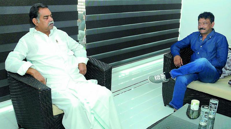 Image result for ram gopal varma meets devineni nehru