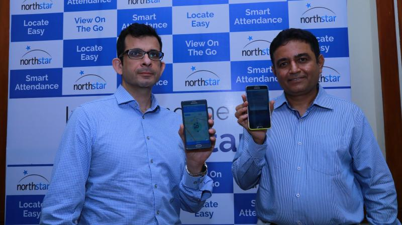 CEO Bobbie H Kalra (Left) and CPO & CTO Shyam Ramamurthy(Right) launching the the third generation of the Northstar child safety app. .