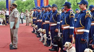 Delhi Police inducted a new batch of 30 dogs to bolster the strength of its canine squad in presence of Lieutenant Governor Najeeb Jung and city Police Commissioner Alok Kumar Verma.