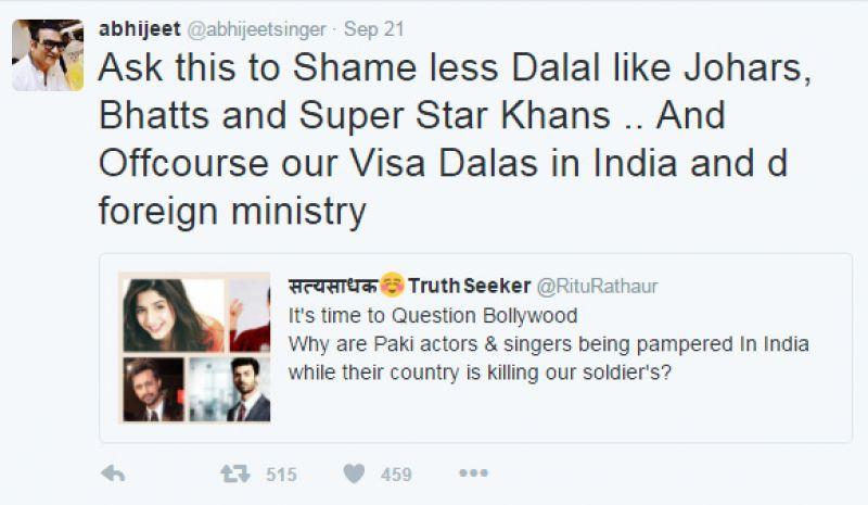 abhijeet bhattacharya tweet karan johar