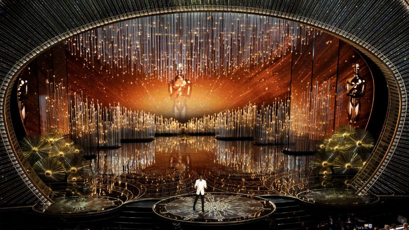 The Oscar stage comes alive as the show gets on the road.