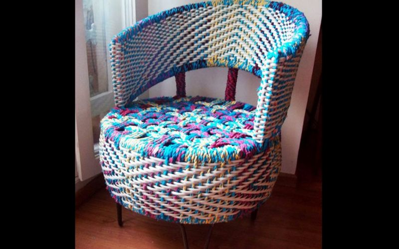 Weave some fabric, canvas or bamboo to make a resting chair.