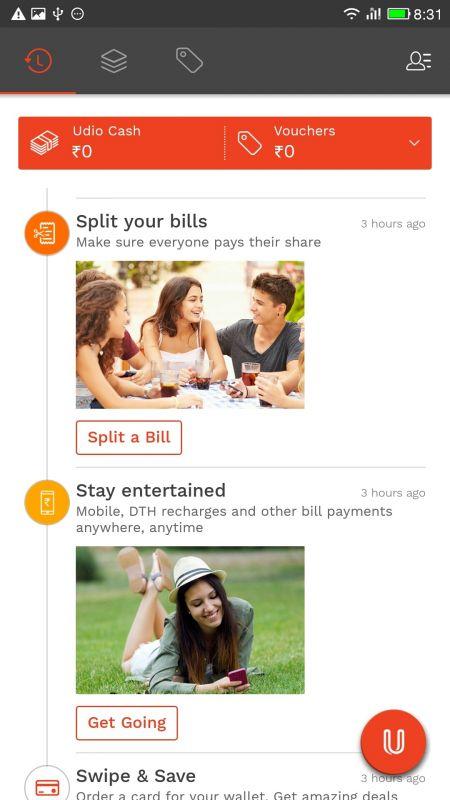 Udio's Split bills feature