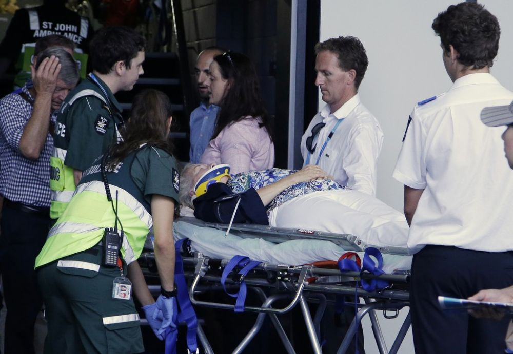 Tournament organisers said the spectator had been taken by stretcher to a first aid post for observation and further treatment. (Photo: AP)
