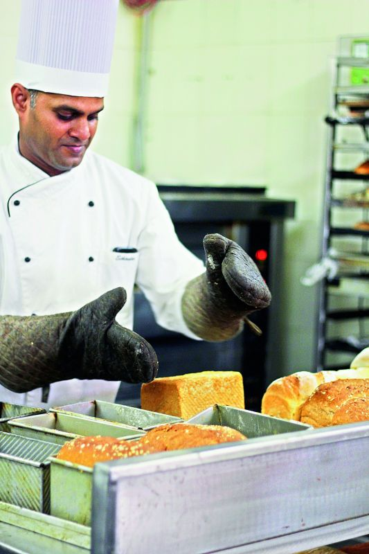 Chef Sikandar Reddy from Deli9 bakes a fresh batch of preservative free bread.