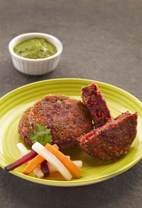 Mixed vegetable and Beet Cutlet