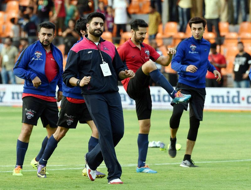 Bollywood stars gave the Indian cricketers a run for their money. (Photo: PTI)