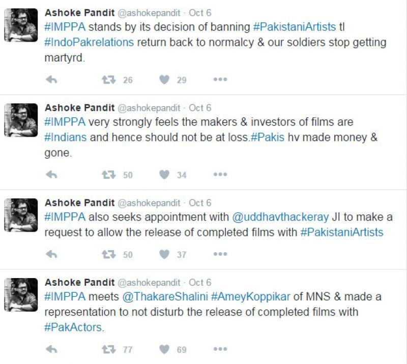 Ashoke Pandit IMPPA tweet