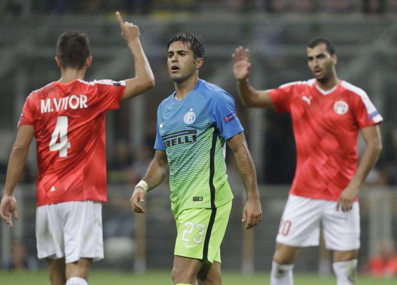 Inter Milan were stunned 2-0 at home to Hapoel Beer Sheva. (Photo: AP)
