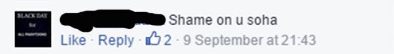 Soha Ali slammed