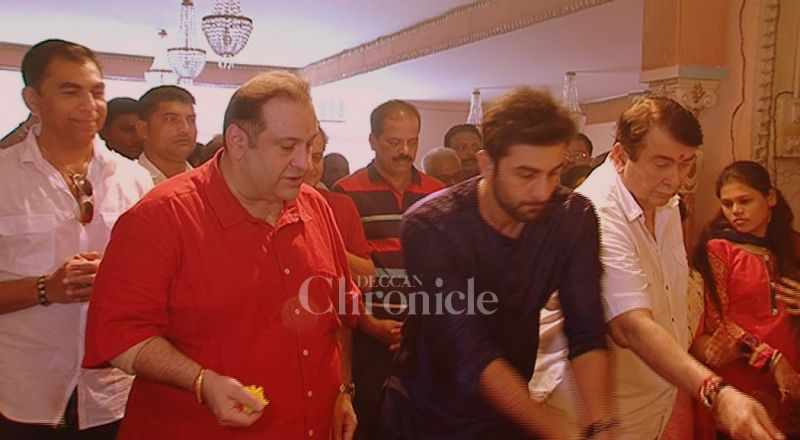Ranbir Kapoor at RK Studios Ganesh Chathurti