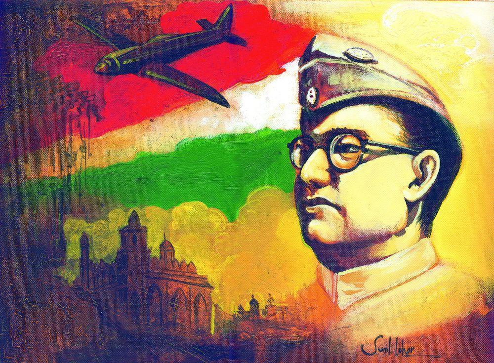 The spirit: Artist Sunil Lohar's acrylic on canvas for the Deccan Chronicle