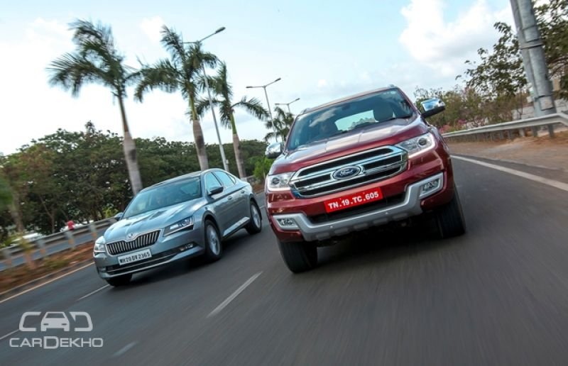 Skoda Superb and Ford Endeavour