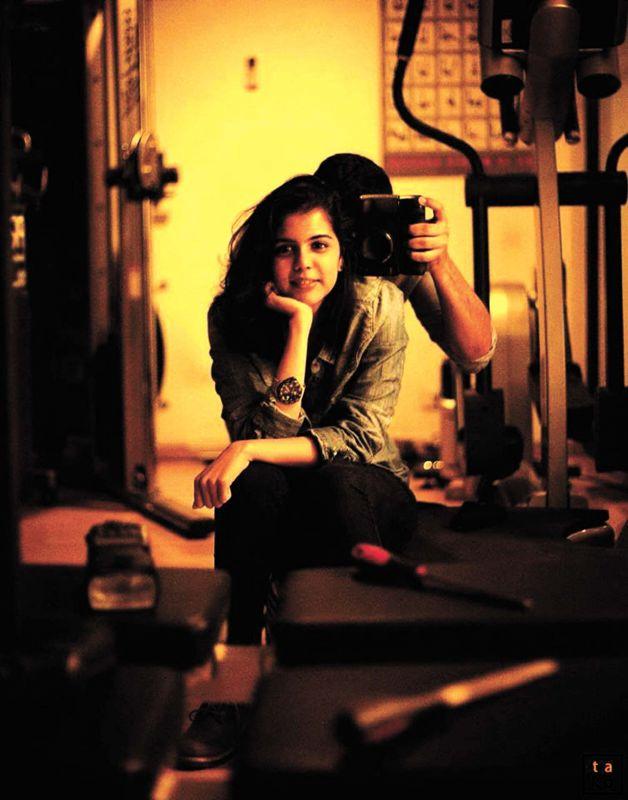 Kalyani Priyadarshan was in the art team of Vikram's new film Irumugan.