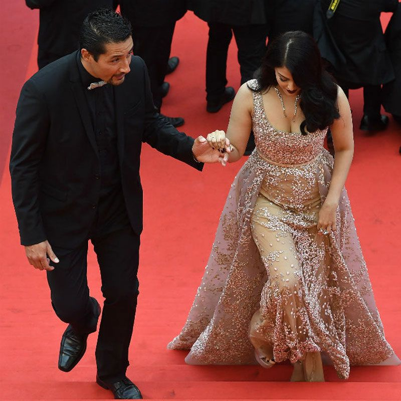 Aishwarya Rai Bachchan attends Steven Spielberg's 'The BFG' at the Cannes film festival. Photo: AFP