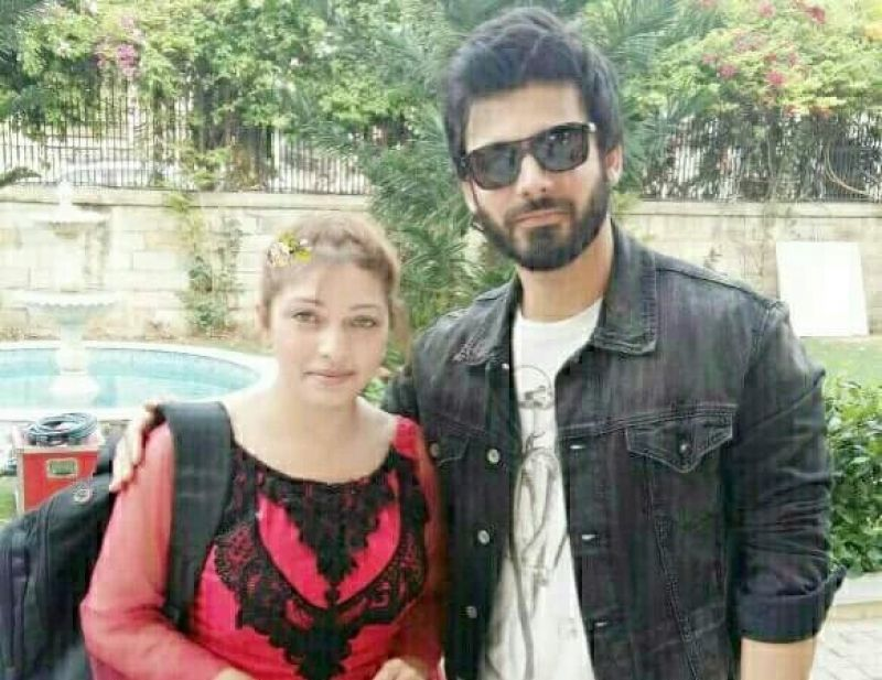 Fawad Khan snapped with a fan on the sets of 'Ae Dil Hai Mushkil'.