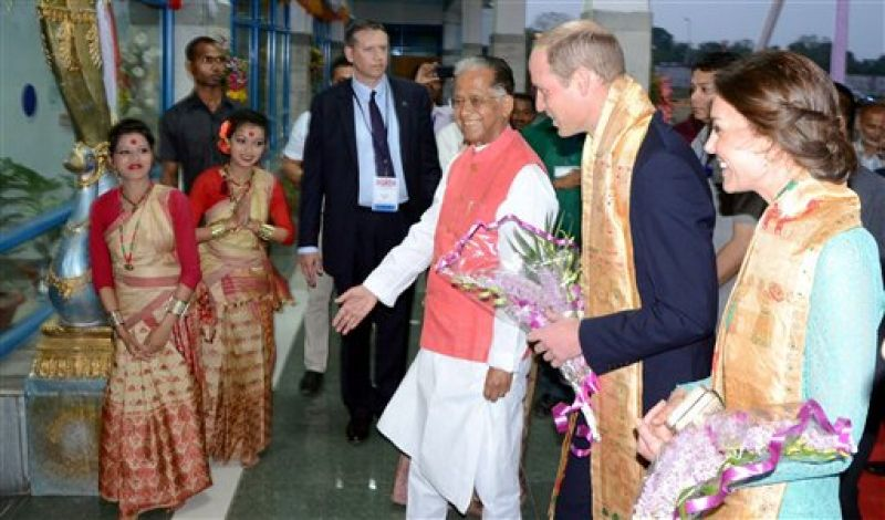 The Royal Couple received a warm and traditional welcome. (Photo: PTI)