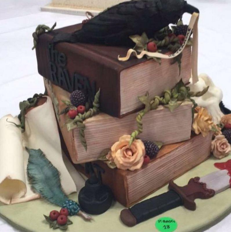 Edward Allen Poe Cake