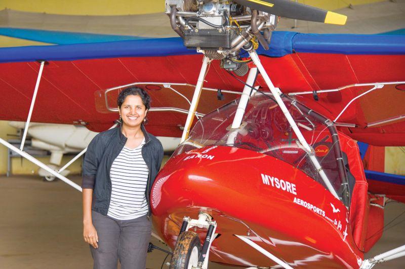 Capt. Vinitha Mariappa of Bangalore Aerosports