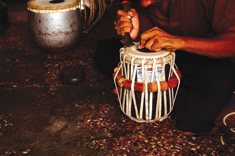 The making of the tabla