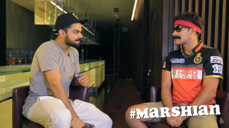 """""""How is everyone in Mars?"""" Nags asked Kohli, adding that his current form looks like he is from a different planet. (Photo: Screengrab)"""