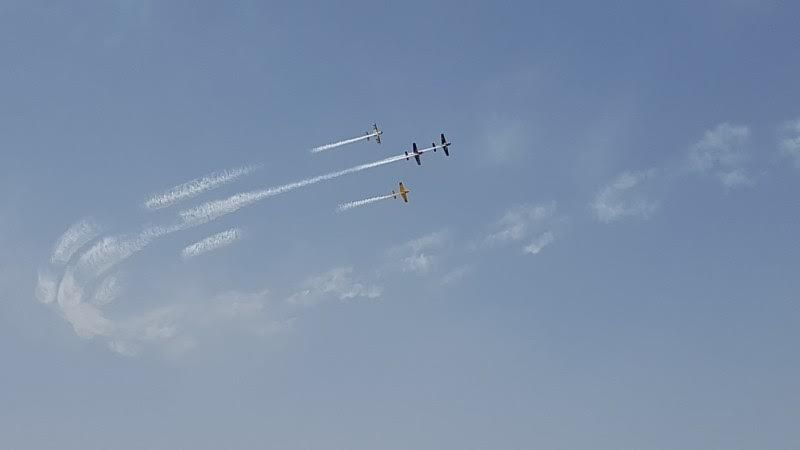 The show-stopper was a group of stunt plane daredevils