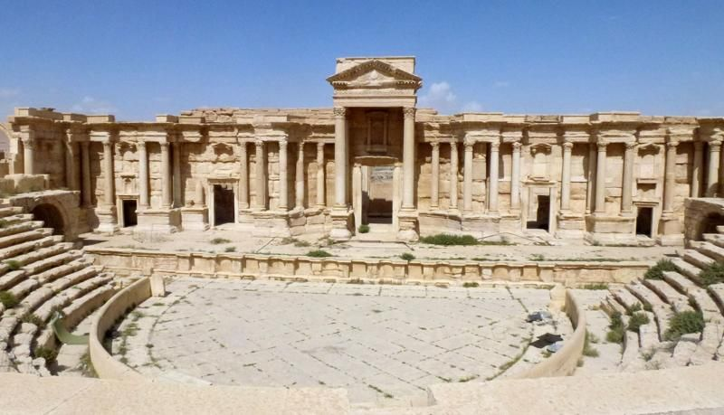 A general view taken on March 27, 2016 shows the theatre in the ancient Syrian city of Palmyra, after government troops recaptured the UNESCO world heritage site from Islamic State (IS) group jihadists on March 27, 2016. (Photo: AFP)