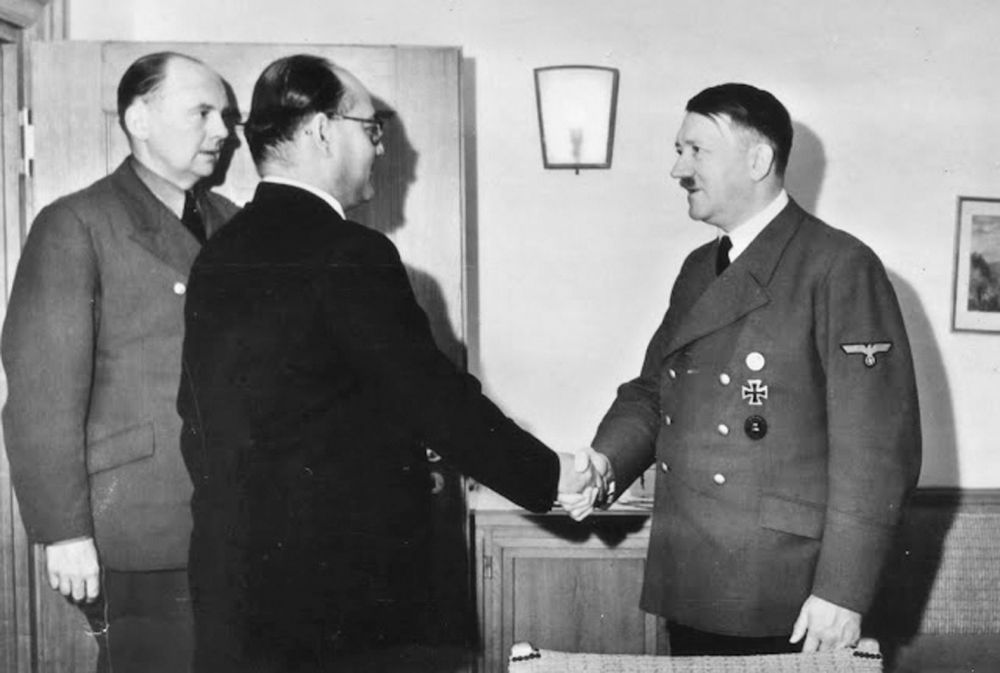 road to berlin: Bose with Adolf Hitler. That Bose had socialist  leanings, did not want to go to Hitler's Germany, and was keen to reach Russia, are well known.