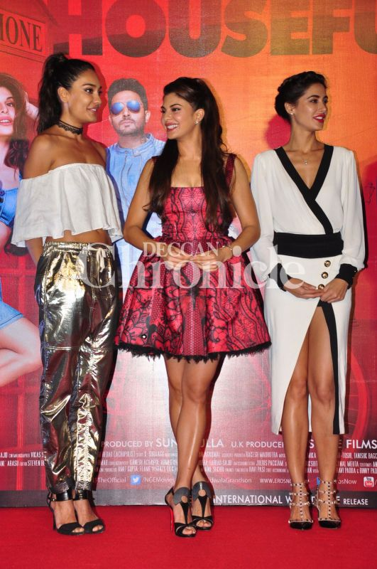 Akshay Jacqueline Riteish Abhishek Nargis Launch Housefull 3 Trailer
