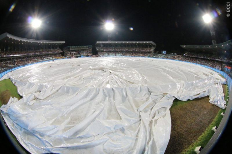 Eden Gardens was fully covered much to the disappointment of fans. (Photo: BCCI)