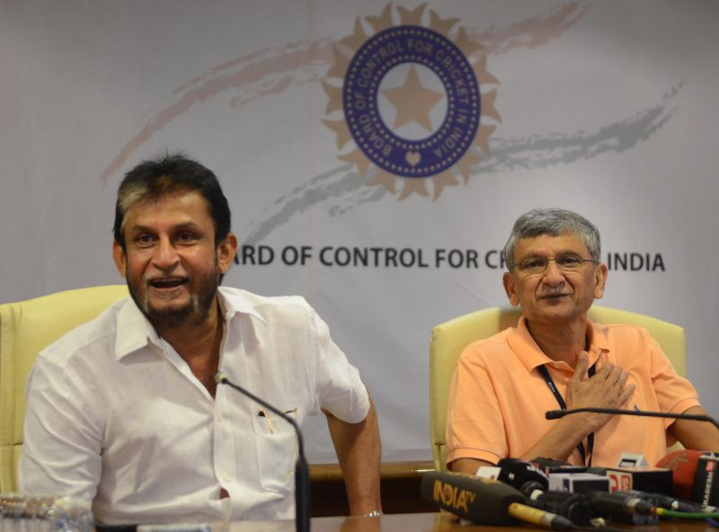 Selector Sandeep Patil and BCCI Honorary Secretary Ajay Shirke at the BCCI headquarters in Mumbai on Monday. (Photo: DC/ Shripad Naik)