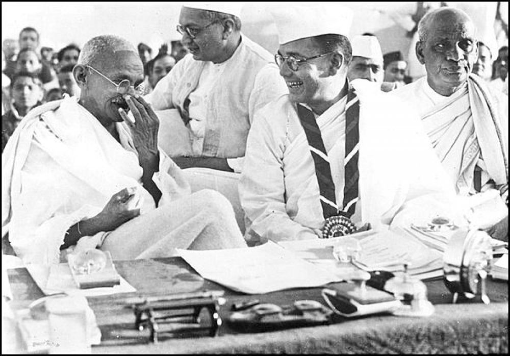 """Ties gone sour: Bose with Gandhi. Strangely, shortly after hearing of Bose's death in Taipei, Gandhi fired off a telegram to Satish Chandra Bose, Netaji's eldest brother, saying, """"Don't perform shraddh."""""""