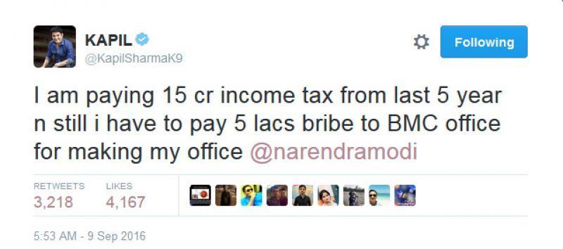 Kapil Sharma tweet