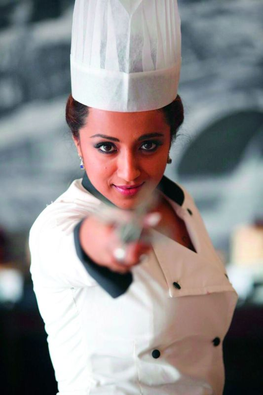 Trisha plays a chef and a food blogger in Mohini.