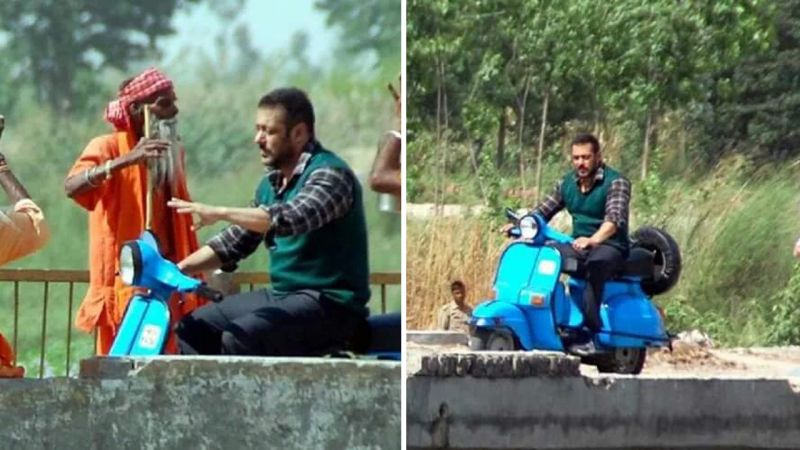 Salman Khan shoots for Sultan
