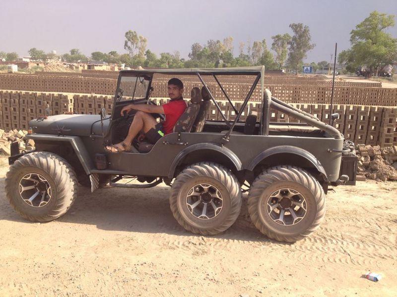 Capt.Pawan Kumar posing in a jeep. (Photo: Facebook)